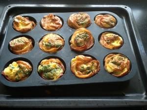 Efter en tur i ovnen ser de så fine ud og smagen er helt i orden 😃
