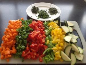 Skønt med grøntsager, og sikke farver !