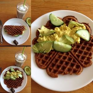 Frokostvaffel med karry og æggesalat 😋
