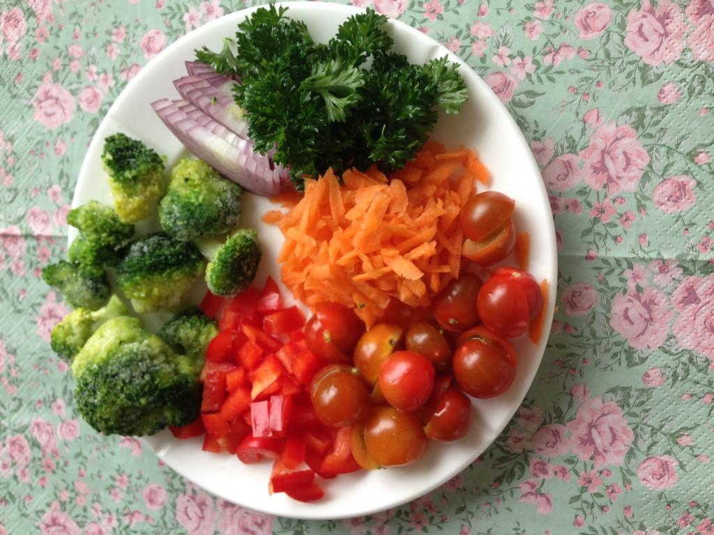 udvalgte grøntsager