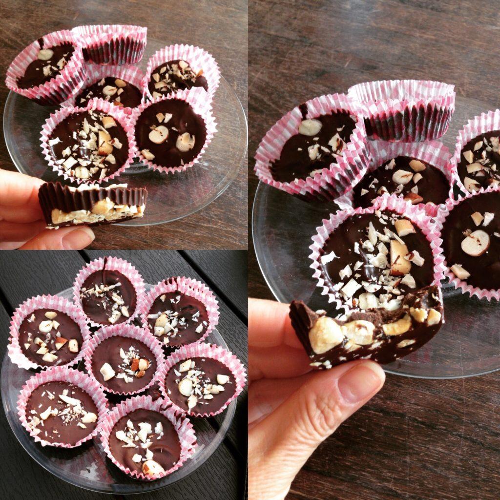 Små lækre chokoladetærter