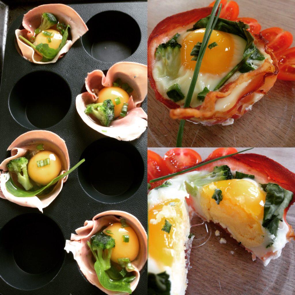 æggemuffins Med Hele æg Og Grøntsager