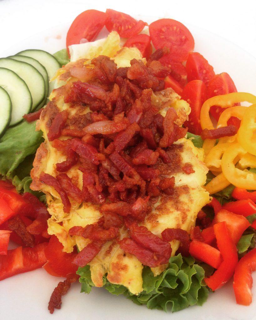 Scrambled egg med bacon