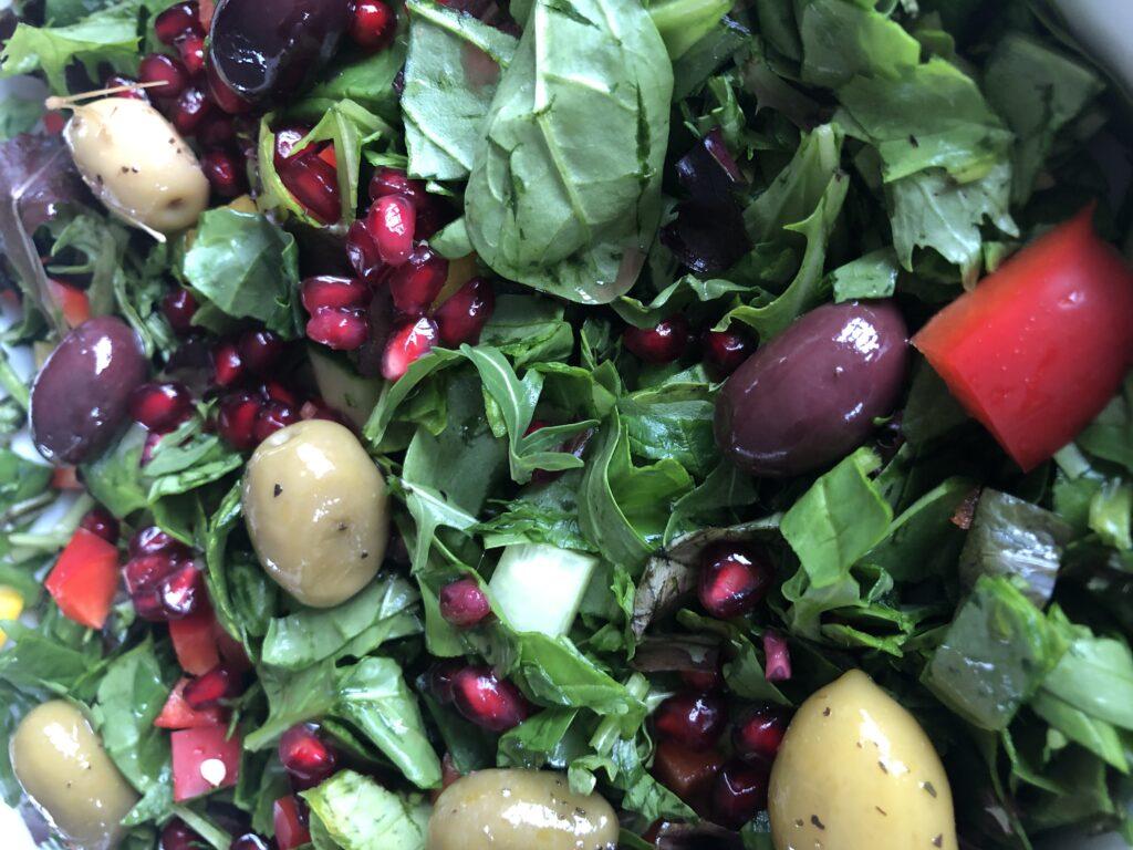 Lækker salat til vores kødboller