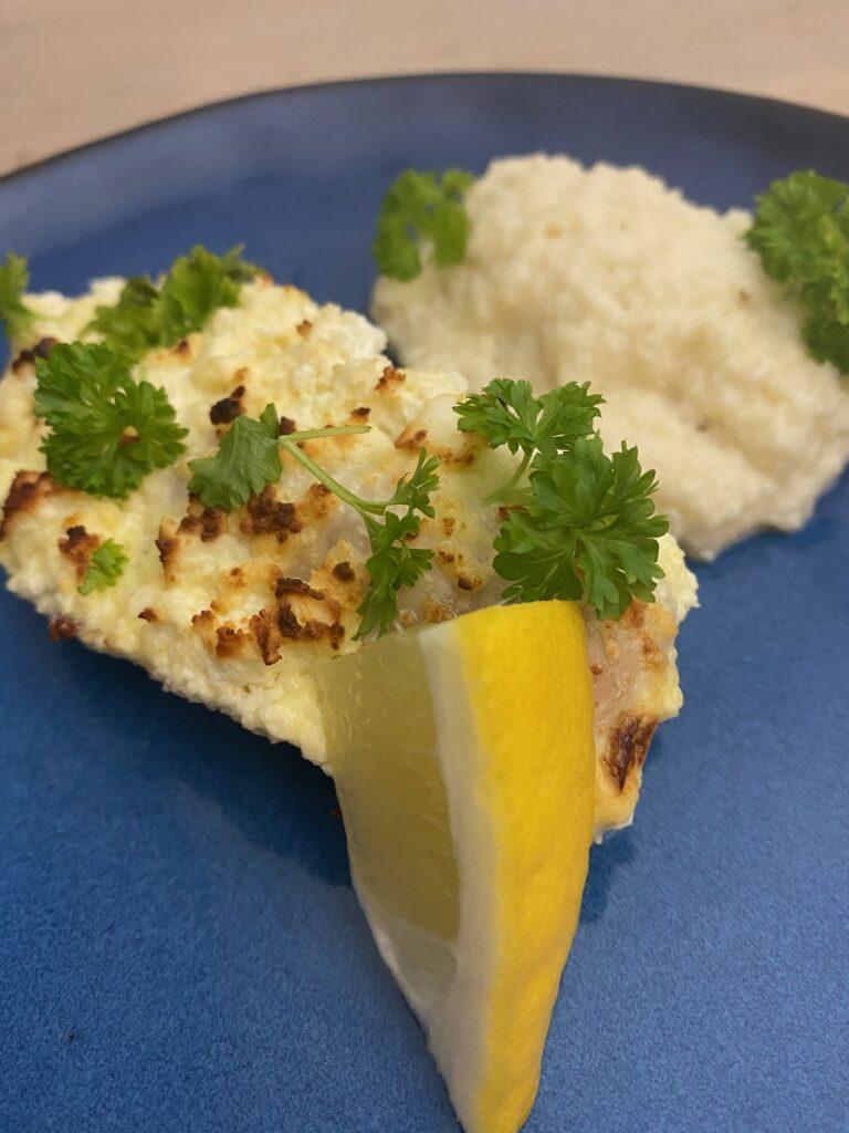 Kylling med citron og feta.