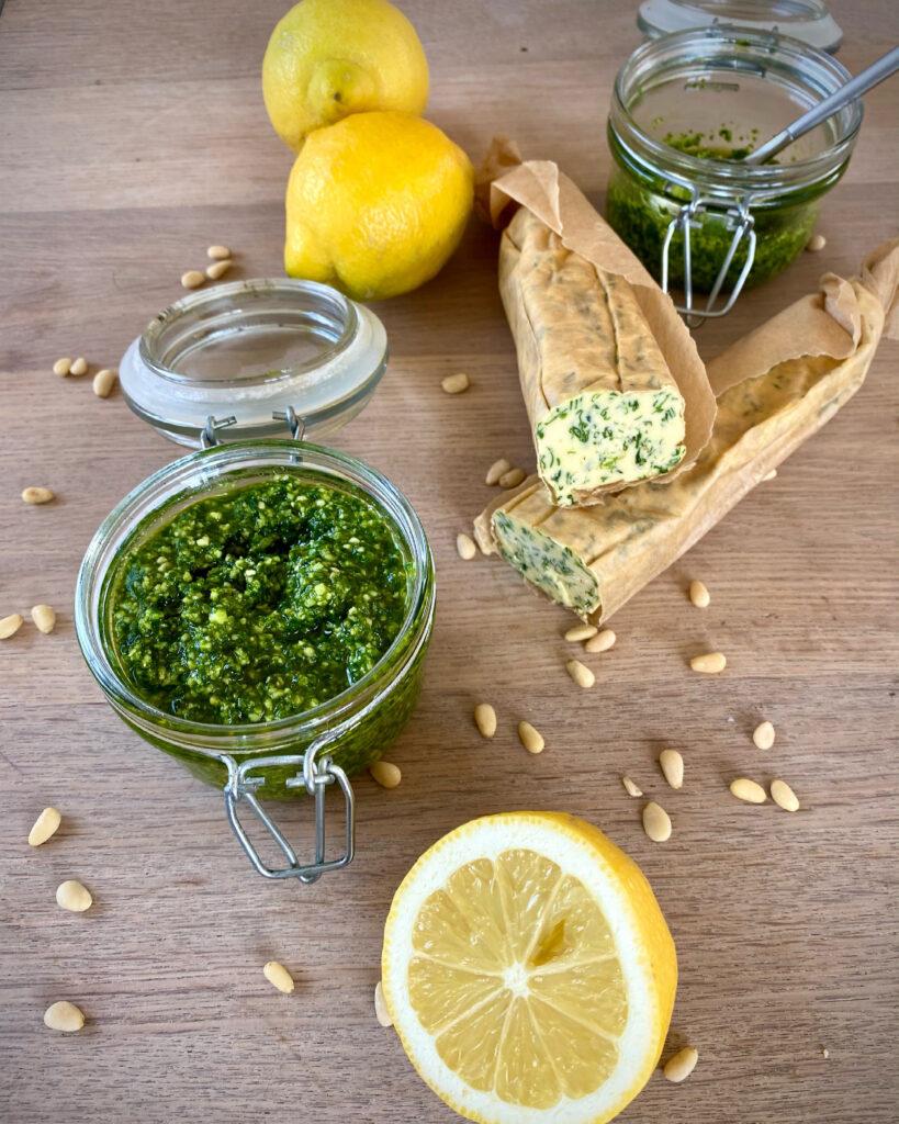 Ramsløgpesto og kryddersmør